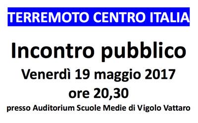 Incontro pubblico – 19 maggio 2017