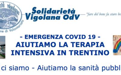 – EMERGENZA COVID 19 – AIUTIAMO LA TERAPIA INTENSIVA IN TRENTINO