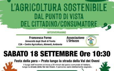 """""""L'agricoltura sostenibile dal punto di vista del cittadino/consumatore"""" – Prenota il tuo posto!"""