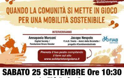 """""""Quando la comunità si mette in gioco per una mobilità sostenibile"""" sabato 25 settembre – Prenota il tuo posto!"""